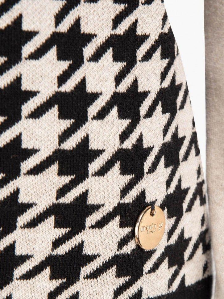 Casaco padrão pata de galo