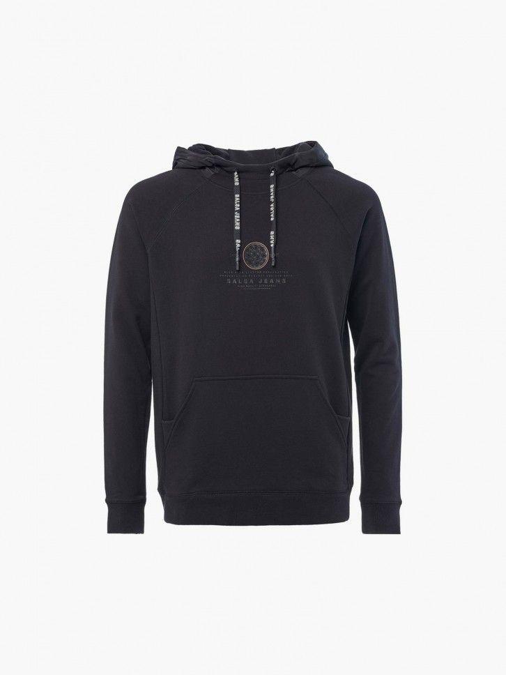 Sweatshirt com capuz impermeável