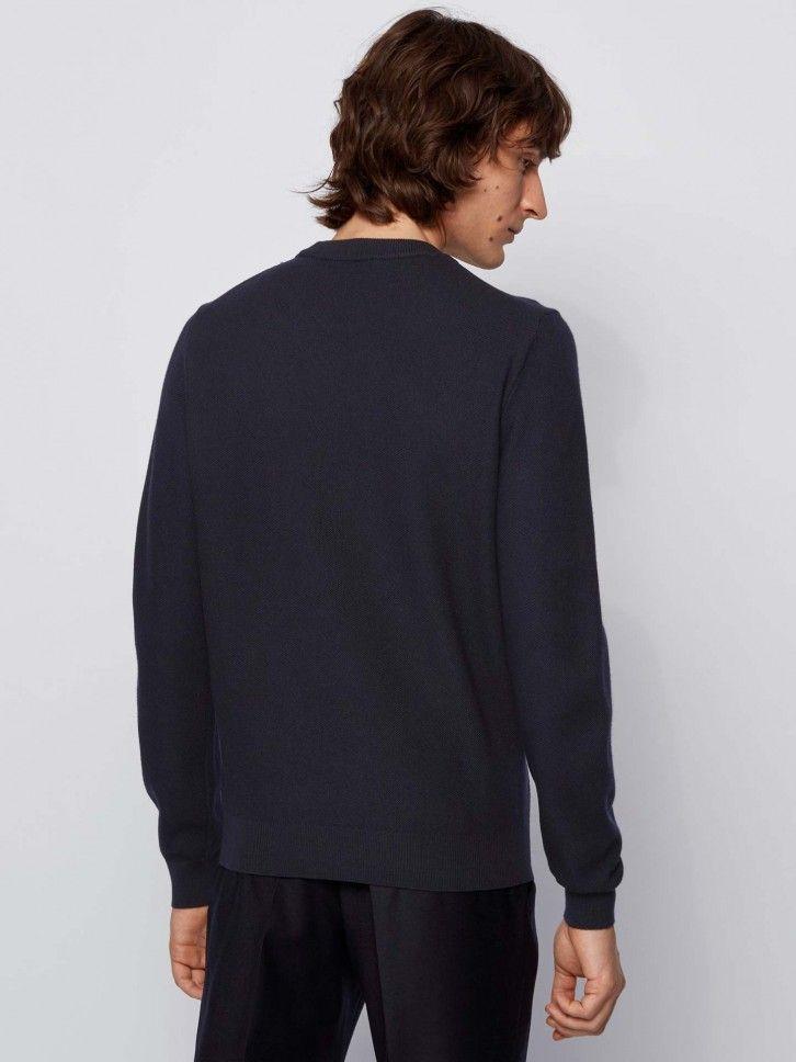 Camisola de malha com monograma