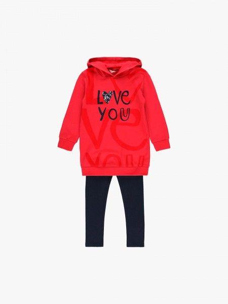 Conjunto sweatshirt e leggings