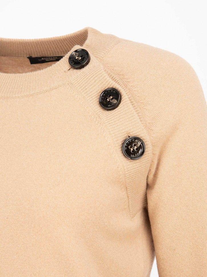 Camisola de malha com botões
