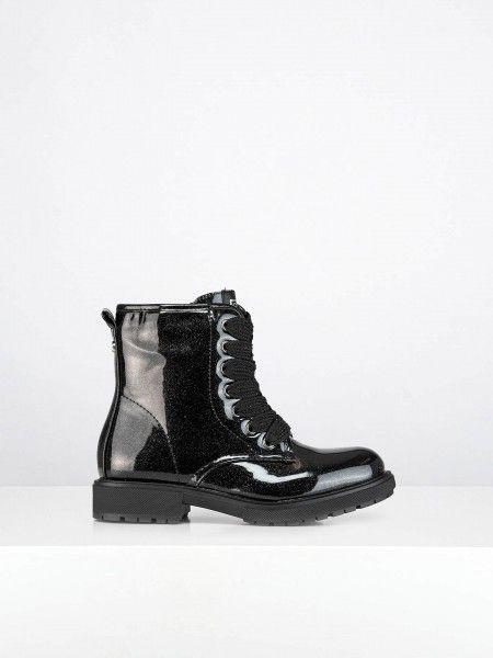 Combat Boots em Efeito Brilhante