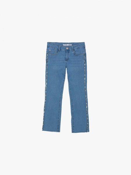 Jeans Flare com Faixas