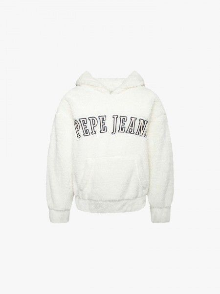 Sweatshirt em Efeito de Pelo