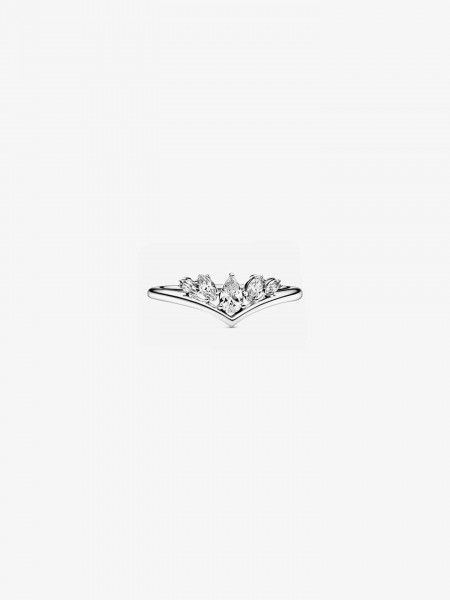 Anel Sparkling Pear & Marquise Wishbone