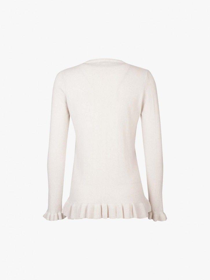 Camisola de malha com folho