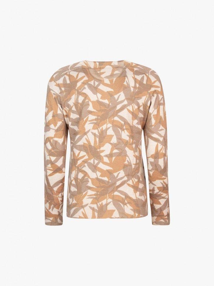 Camisola de malha com padrão