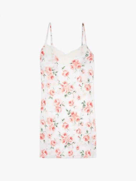 Camisa de noite estampado floral