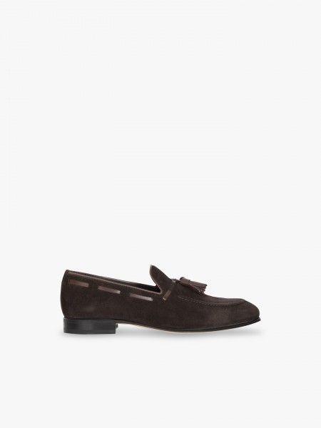 Sapatos clássico em camurça