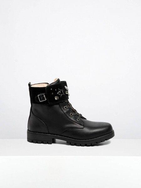 Combat Boots com Aplicações
