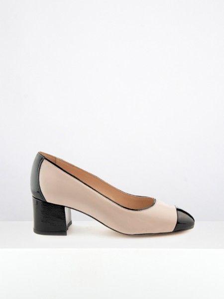 Sapato bicolor