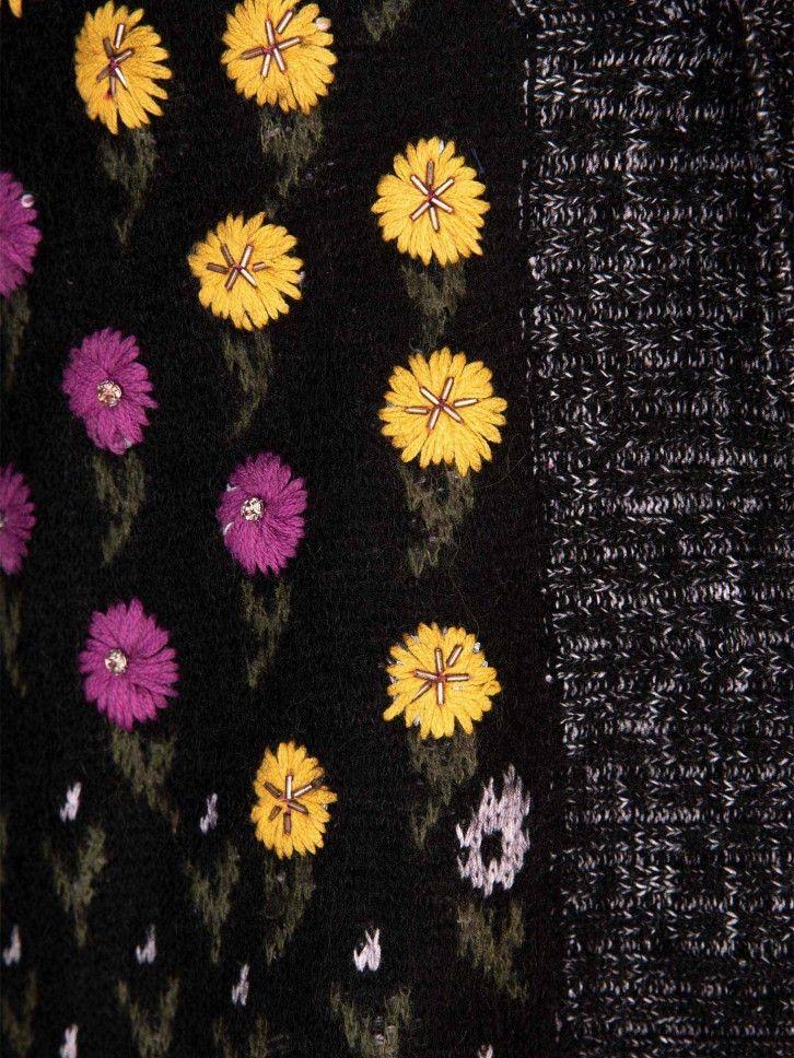Casaco Malha estampado floral