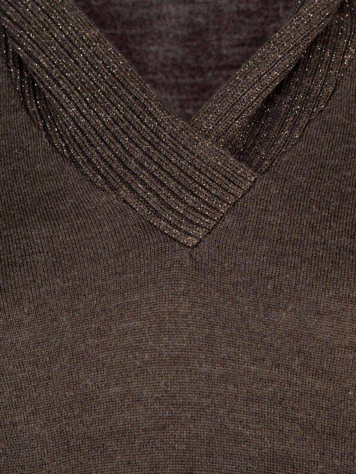 Camisola de decote em V