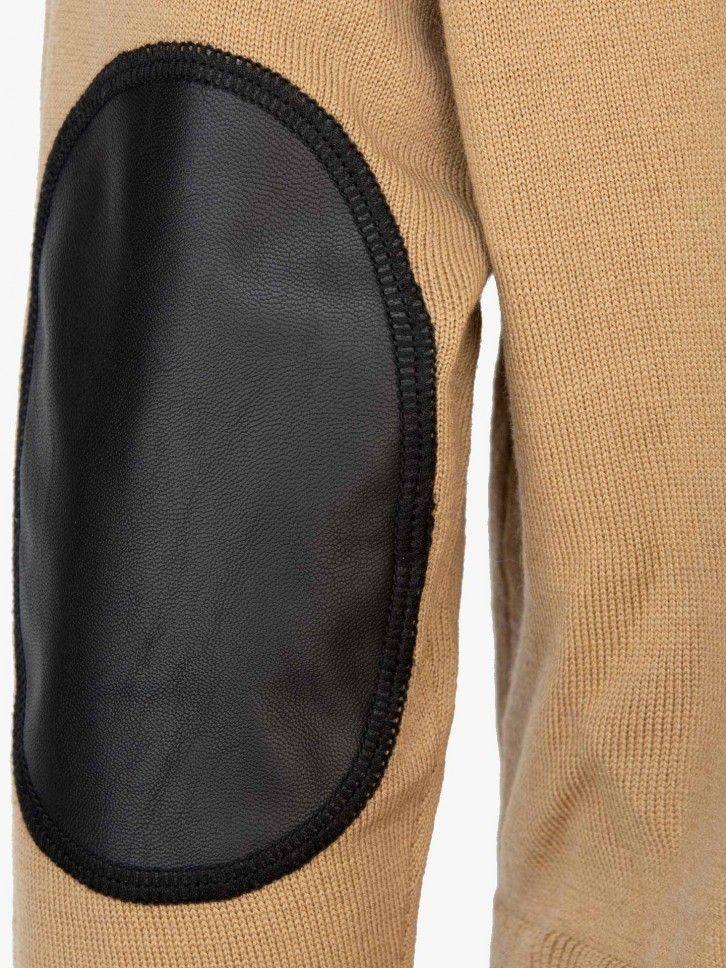 Camisola de malha canelada