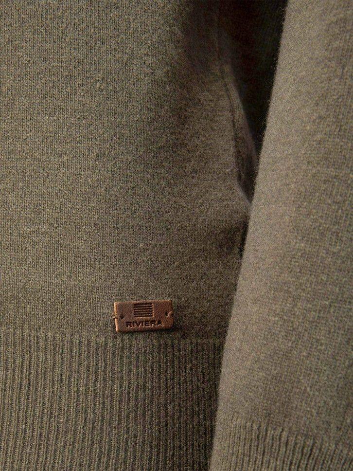 Camisola de malha abotoada