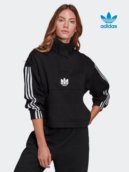 Sweatshirt com Meio Fecho