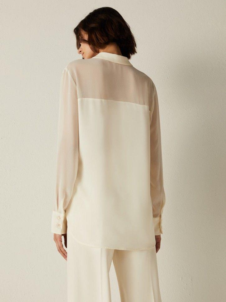 Camisa Semitransparente