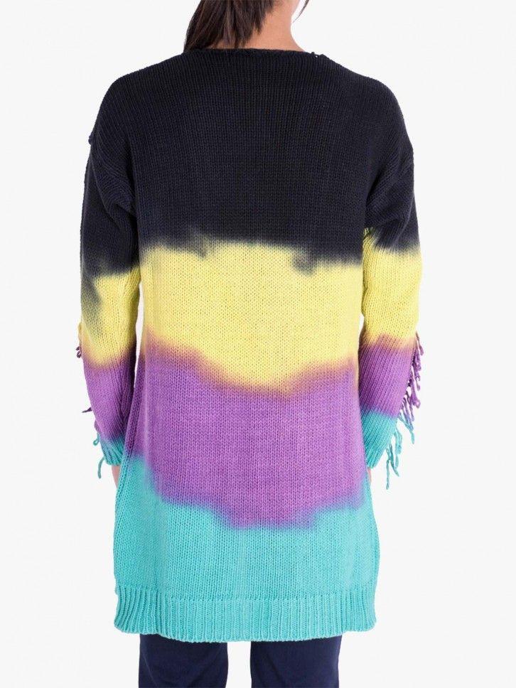 Casaco de Malha Color Block