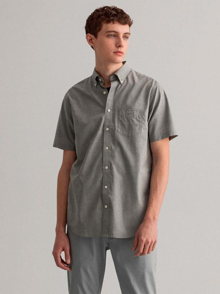 Camisa Regular Fit de Manga Curta