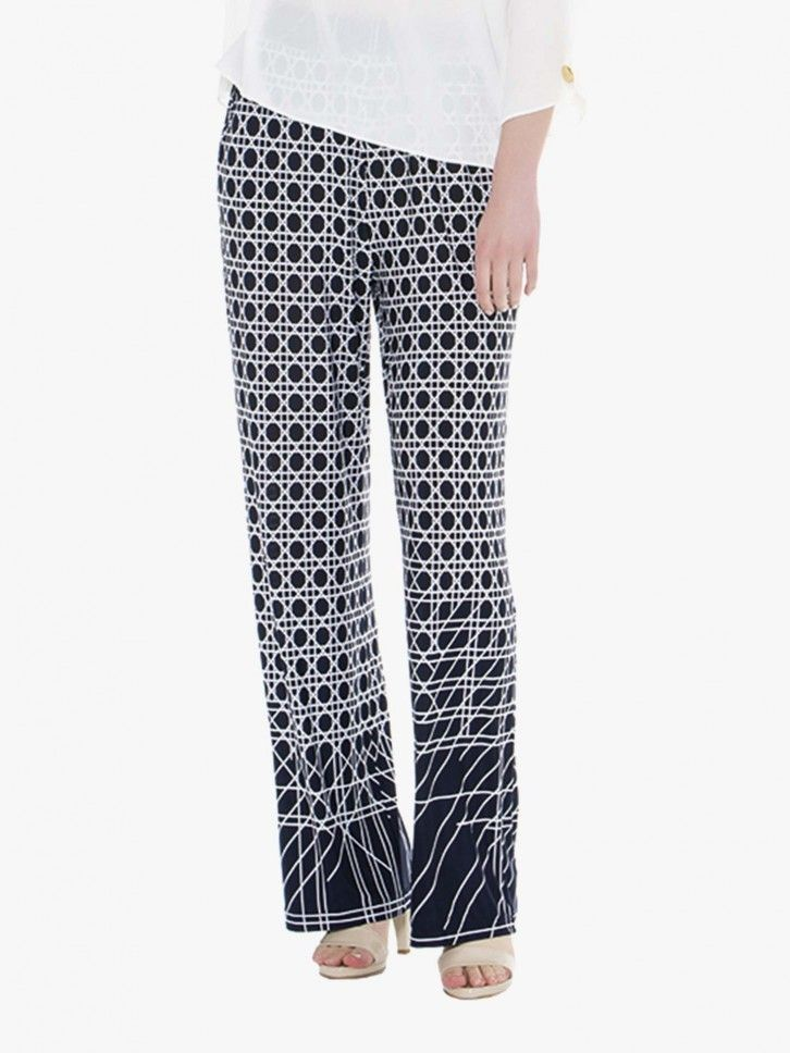 Calças padrão geométrico