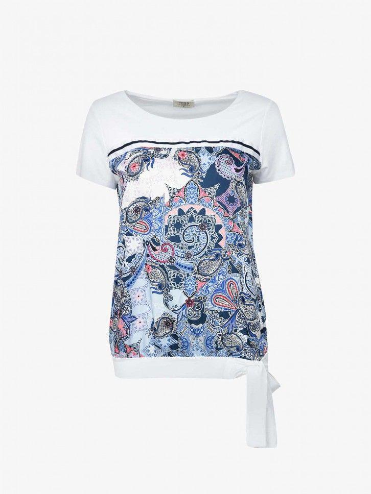 T-shirt Comprida com Laço