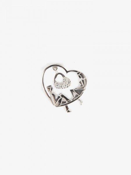 Medalha Coração em Prata