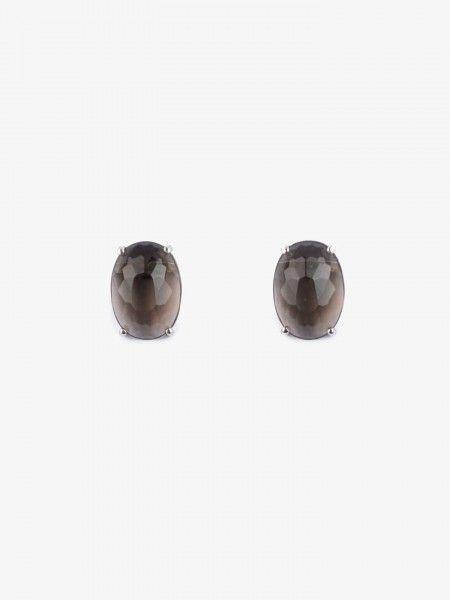 Brincos em Prata com Pedra