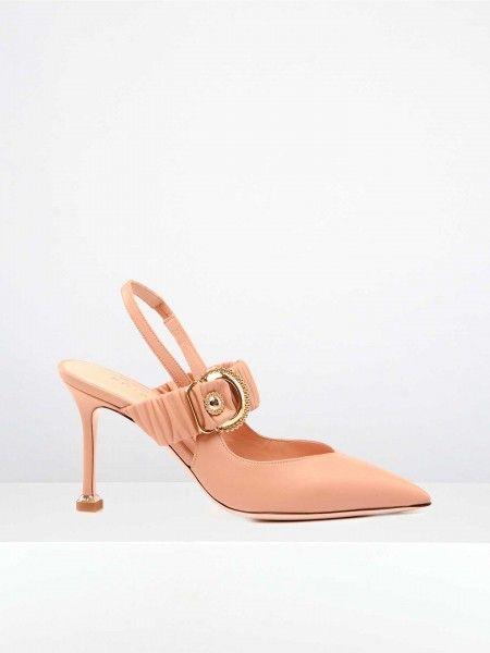 Sapatos de Salto Alto com Fivela