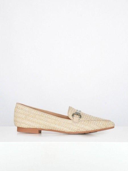 Loafers em Ráfia