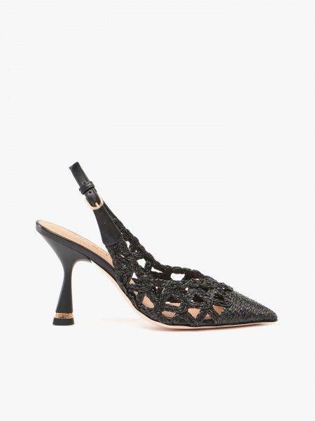 Sapatos de Salto Alto Rendilhados
