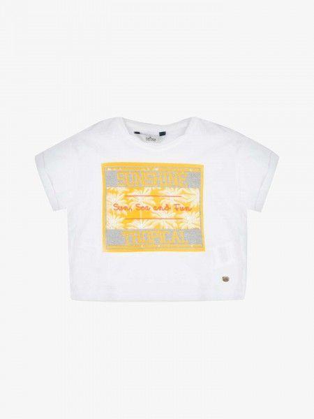 T-Shirt Cropped Estampada