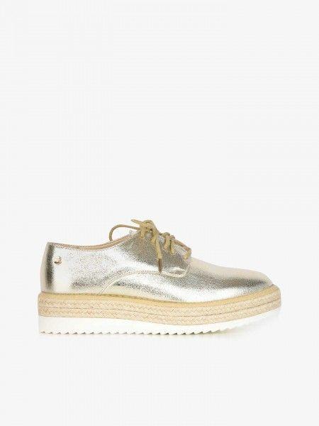 Sapatos Plataforma Efeito Brilhante