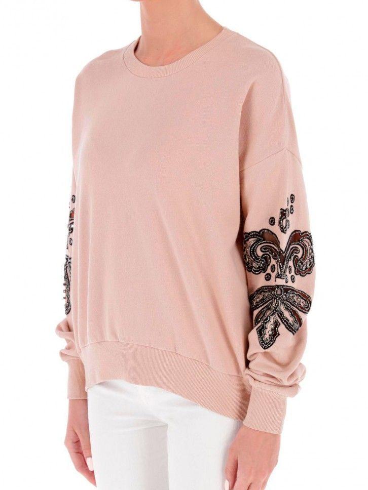 Sweatshirt com Aplicações
