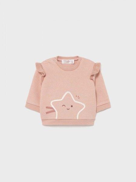 Sweatshirt com Folhos
