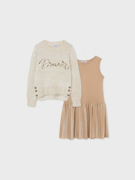 Conjunto Camisola de Malha e Vestido