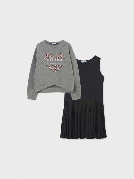 Conjunto Sweatshirt e Vestido