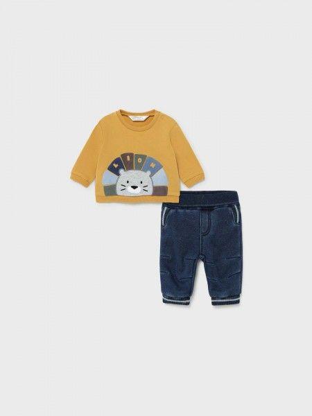 Conjunto Sweatshirt e Calças de Ganga