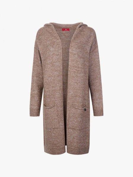 Casaco Comprido de Lã com Capuz