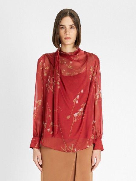 Blusa de Seda Floral