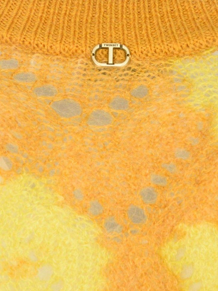 Casaco de lã Floral
