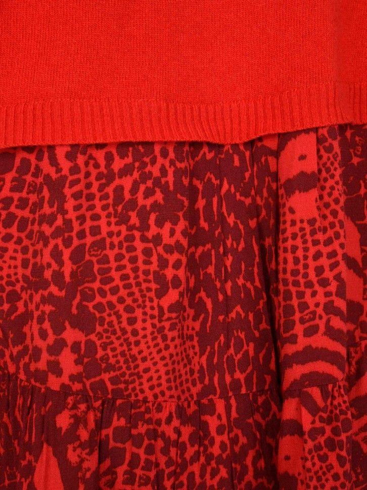 Camisola de Gola Alta com Animal Print