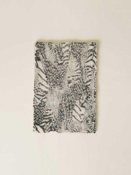 Écharpe de lã animal print