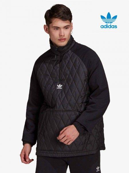 Sweatshirt Combinada com Fecho