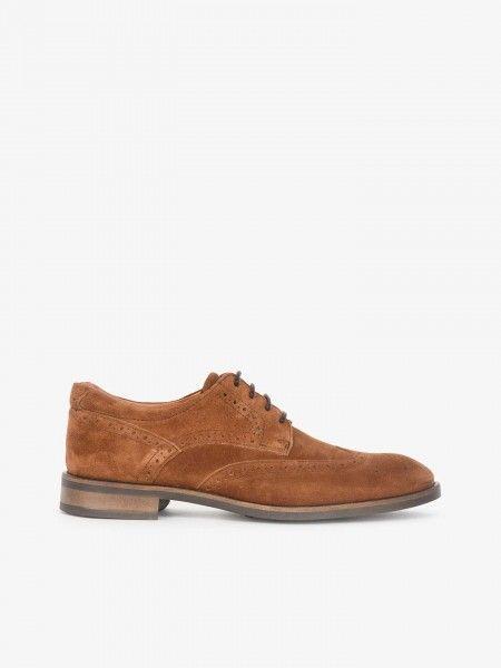Sapatos Brogue em Camurça
