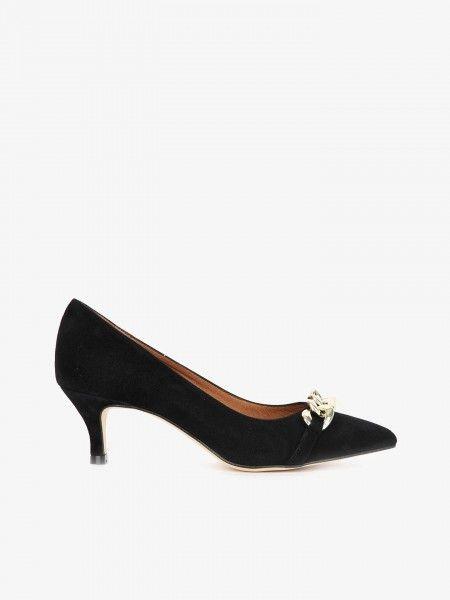 Sapatos de Salto Alto com Aplique