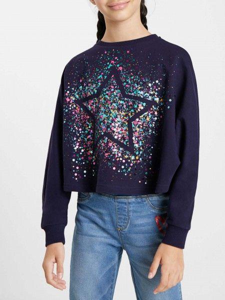 Sweatshirt Oversized com Lantejoulas