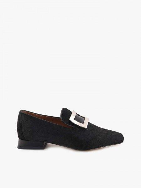 Sapatos em Suede com Aplicação