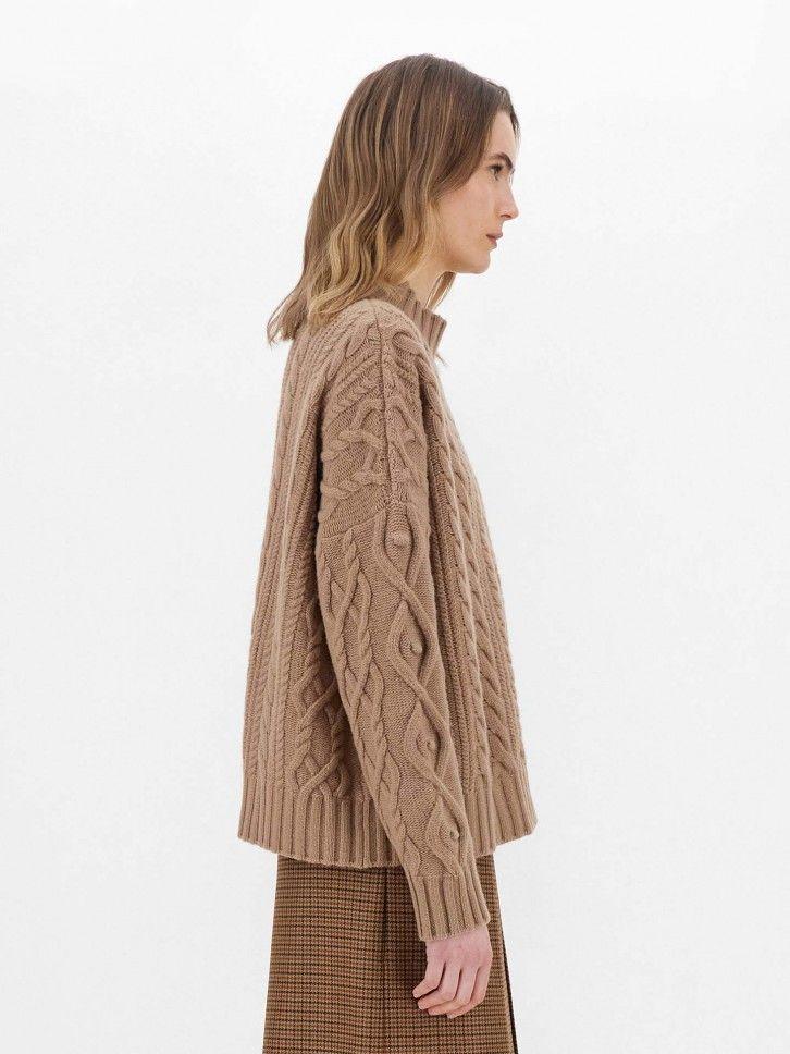 Camisola de Lã Trançada