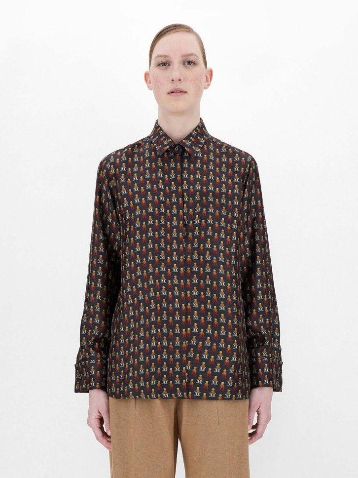 Camisa Estampada de Lã
