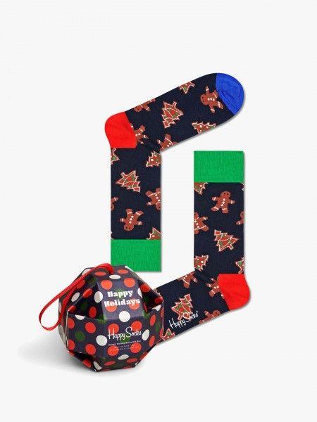 Pack Meias Curtas Gingerbread Cookies Socks